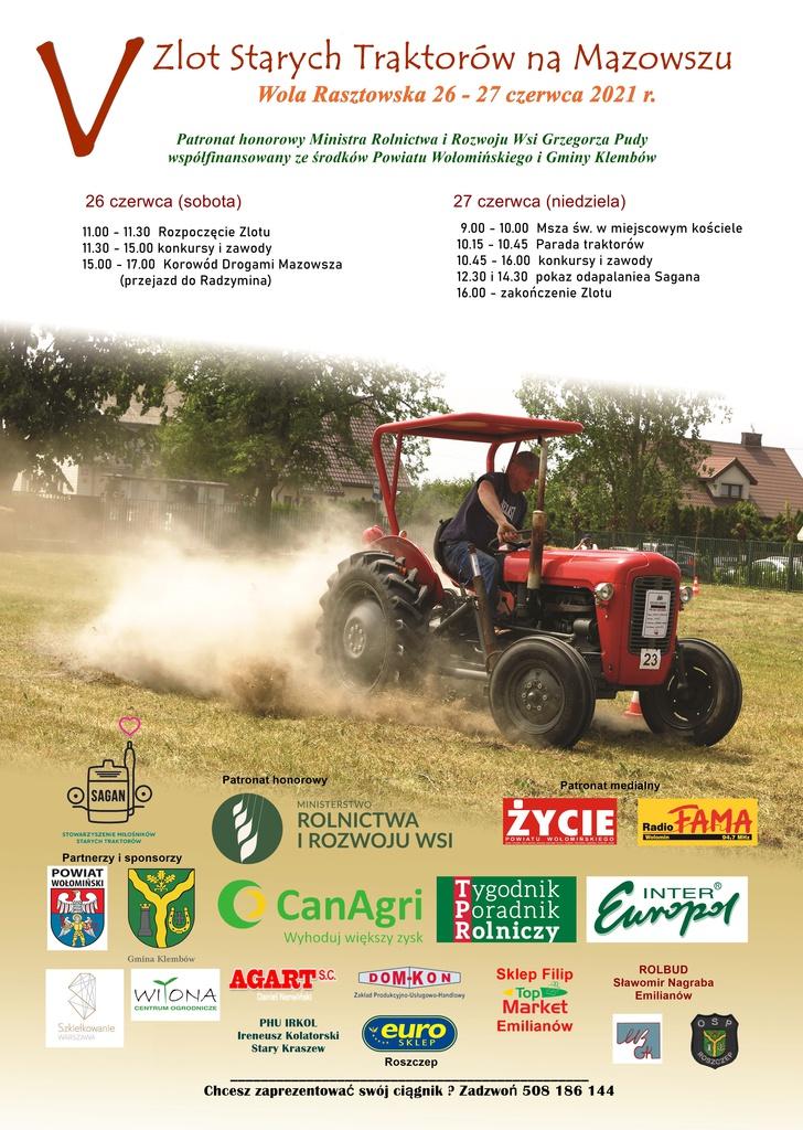 Zlot Starych Traktorow 26-27 czerwca 2021 plakat.jpeg