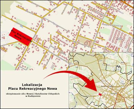Lokalizacja Placu Rekreacyjnego Nowa