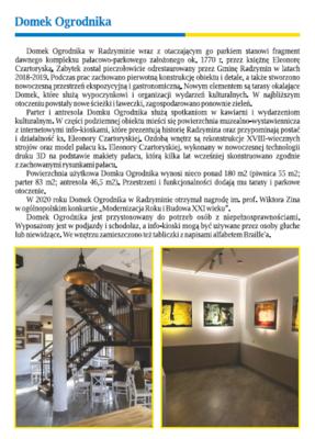 Galeria Domek Ogrodnika_ulotka2021